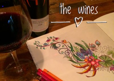 Wine and coloring nights are flight are a great way to unwind!